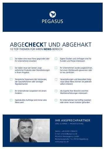 PEGASUS Checkliste