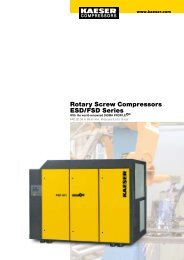 Rotary Screw Compressors ESD/FSD Series - Kaeser Kompressoren