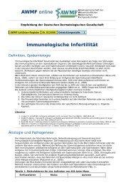 AWMF online - Leitlinie Dermatologie: Immunologische Infertilität