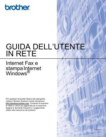 Brother MFC-5460CN - Guida dell'Utente in rete per Internet Fax