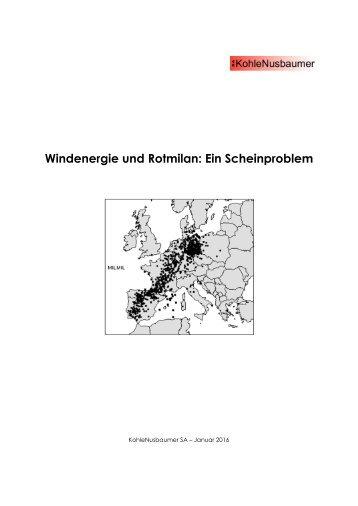 Rotmilan und Windenergie - Ein Scheinproblem