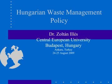 Waste Management Issues In Hungary