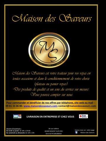 CARTE MAISON DES SAVEURS
