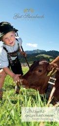Gut Steinbach Urlaubsinspirationen Frühjahr/Sommer 2016