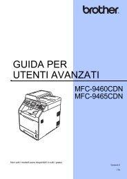 Brother MFC-9460CDN - Guida per utenti avanzati