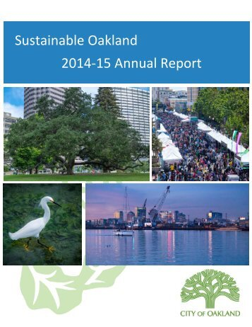 Sustainable Oakland 2014‐15 Annual Report