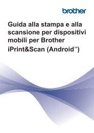 Brother DCP-8085DN - Guida alla stampa e alla scansione per dispositivi mobili per Brother iPrint&Scan - Android™