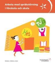 Arbeta med språkstörning i förskola och skola