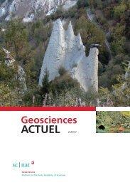 ACTUEL 2/2007 - Platform Geosciences, SCNAT