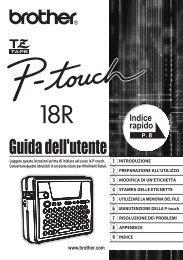 Brother PT-18R - Guida Utente