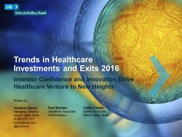 Trends in Healthcare Investments and Exits 2016