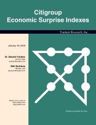 Citigroup Economic Surprise Indexes
