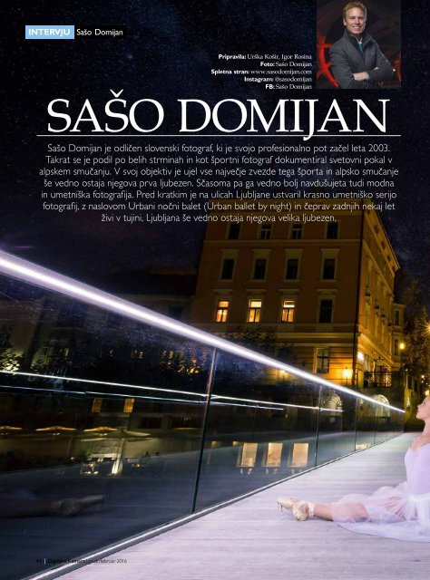 Interview Saso Domijan in Digital Camera magazine