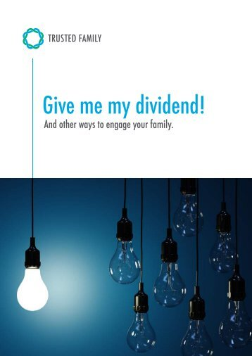 Give me my dividend!