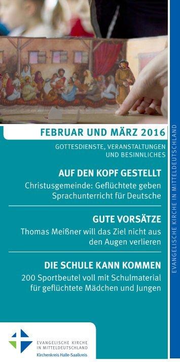 Programm des Evang. Kirchenkreises Halle-Saalkreis für Februar und März 2016