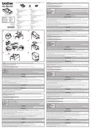 Brother TD-2120N - Guida di installazione rapida (Base per Batteria)