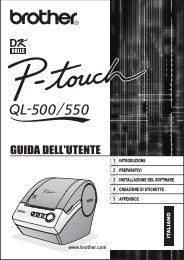 Brother QL-500A - Guida dell'Utente per QL-550