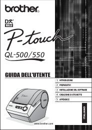 Brother QL-500 - Guida dell'Utente per QL-550
