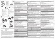 Brother TD-2120N - Guida di installazione rapida (Interfaccia Bluetooth)