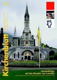 «Gwunderig» auf das Wunder von Lourdes - Kirchenblatt