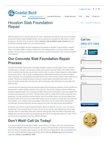 Slab Foundation Repair Service In Houston