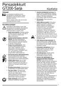 BlackandDecker Hedgetrimmer- Gt220 - Type H1b - Instruction Manual (Nordico) - Page 6