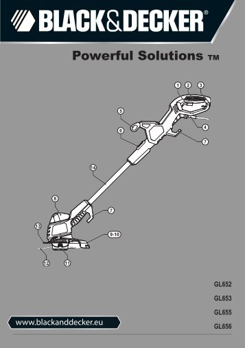 BlackandDecker Tagliabordi A Filo- Gl652 - Type 2 - 3 - Instruction Manual (Europeo)