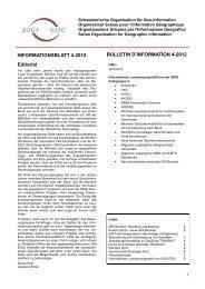 Bulletin d'information 4/2012 - Schweizerische Organisation für Geo ...