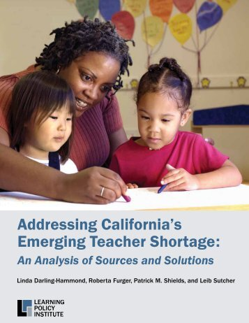 Addressing California's Emerging Teacher Shortage
