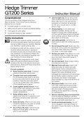 BlackandDecker Hedgetrimmer- Gt221 - Type 1 - Instruction Manual (Europeo) - Page 3