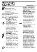 BlackandDecker Hedgetrimmer- Gt200 - Type 1 - Instruction Manual (Nordico) - Page 3
