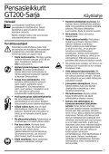 BlackandDecker Tagliatrice- Gt334 - Type 1 - Instruction Manual (Nordico) - Page 6