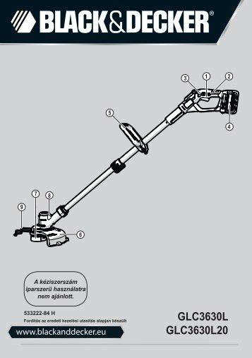 BlackandDecker Tagliabordi A Filo Senza Cavo- Glc3630l - Type H1 - Instruction Manual (Ungheria)