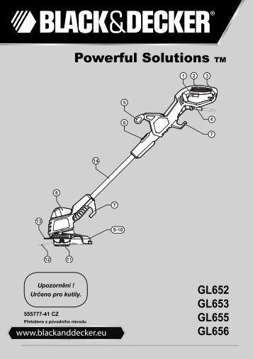 BlackandDecker Tagliabordi A Filo- Gl655 - Type 2 - 3 - Instruction Manual (Czech)