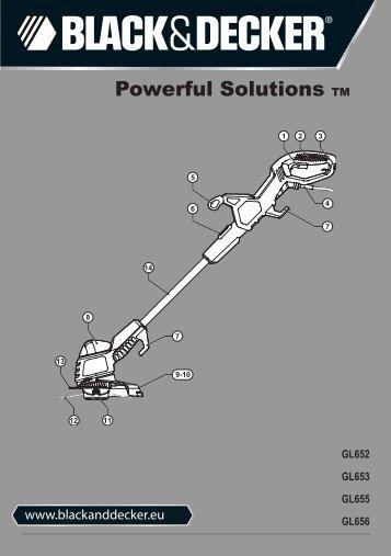 BlackandDecker Tagliabordi A Filo- Gl655 - Type 2 - 3 - Instruction Manual (Europeo)