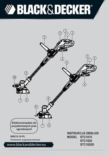 BlackandDecker Tagliabordi A Filo Senza Cavo- Stc1820 - Type 1 - Instruction Manual (Polonia)