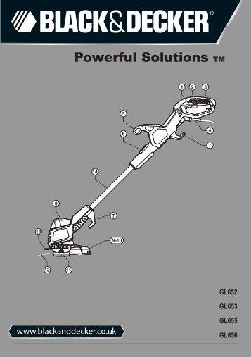 BlackandDecker Tagliabordi A Filo- Gl655 - Type 2 - 3 - Instruction Manual (Inglese)