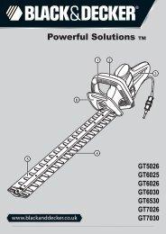 BlackandDecker Hedgetrimmer- Gt7030 - Type 1 - Instruction Manual (Inglese)