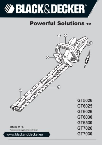 BlackandDecker Hedgetrimmer- Gt7030 - Type 1 - Instruction Manual (Polonia)