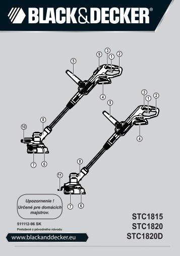 BlackandDecker Tagliabordi A Filo Senza Cavo- Stc1820d - Type 1 - Instruction Manual (Slovacco)