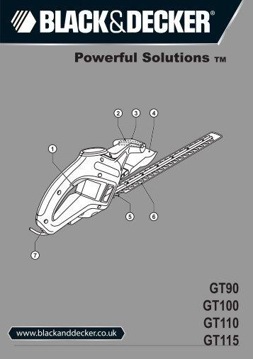 BlackandDecker Hedgetrimmer- Gt90 - Type 3 - Instruction Manual (Inglese)