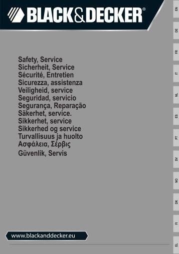 BlackandDecker Tagliabordi A Filo- St5530 - Type 1 - Instruction Manual (Istruzioni di sicurezza)