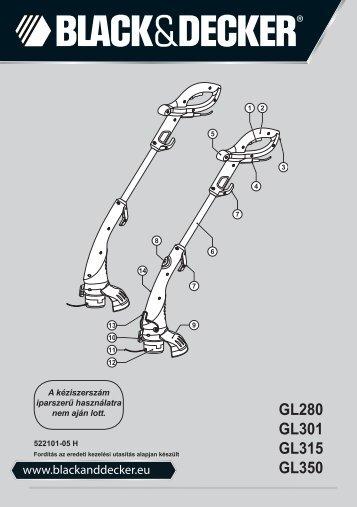 BlackandDecker Tagliabordi A Filo- Gl315 - Type 1 - Instruction Manual (Ungheria)