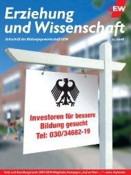 Zeitschrift der Bildungsgewerkschaft GEW 11/2008