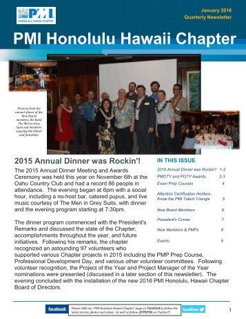 PMI Honolulu Hawaii Chapter