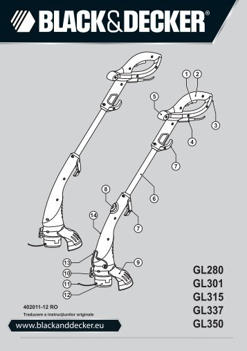 BlackandDecker Tagliabordi A Filo- Gl301 - Type 2 - Instruction Manual (Romania)
