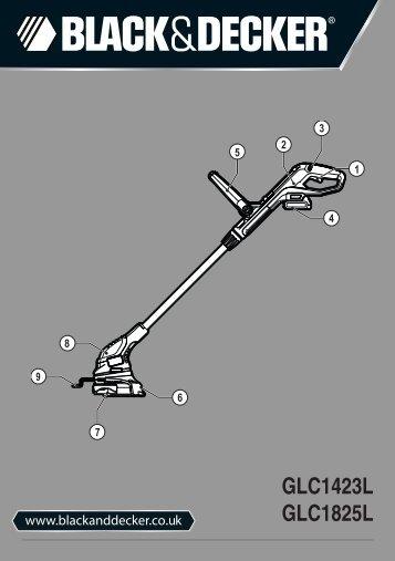 BlackandDecker Tagliabordi A Filo Senza Cavo- Glc1423 - Type H1 - Instruction Manual (Inglese)