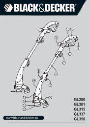 BlackandDecker Tagliabordi A Filo- Gl350 - Type 2 - Instruction Manual (Europeo Orientale)
