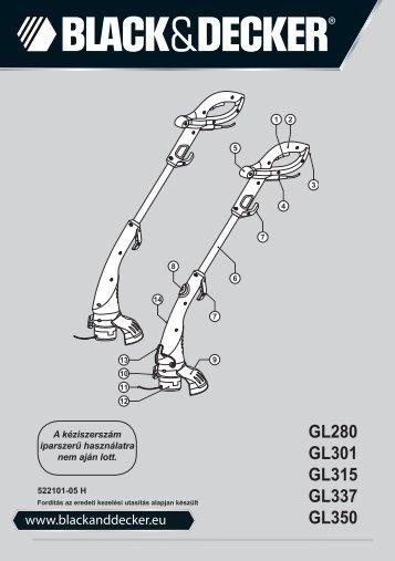 BlackandDecker Tagliabordi A Filo- Gl301 - Type 2 - Instruction Manual (Ungheria)