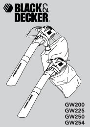 BlackandDecker Soffiatore- Gw225 - Type 5 - Instruction Manual (Europeo)